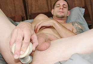 Big Dildo fucking tight gay ass